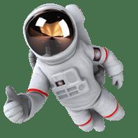 2thumbs up blueteam astronaut